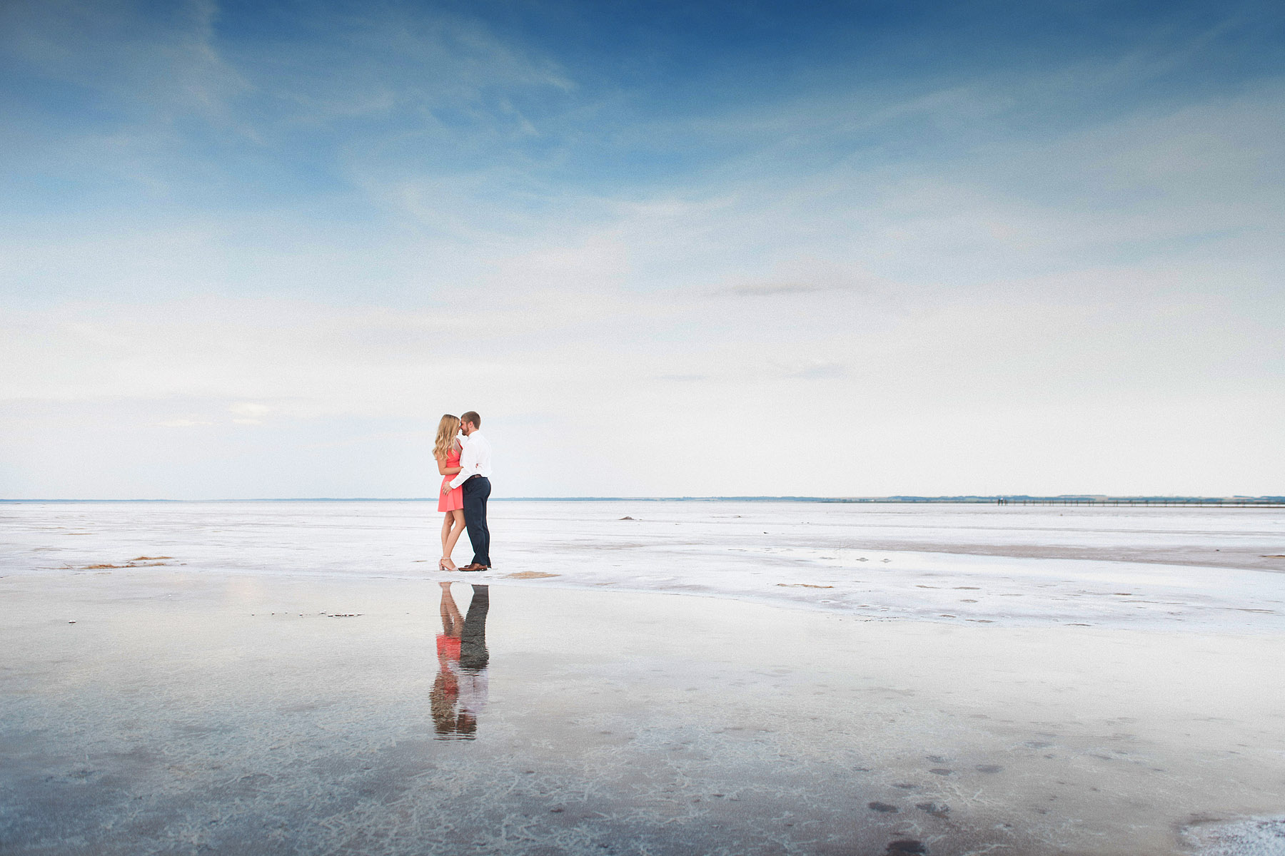 Salt Flats Engagement Photography